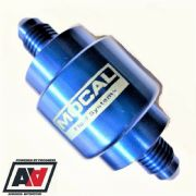 Mocal AN-4 Dash-4 Blue Anodised In Line Compact Fuel / Oil Filter